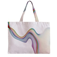 Abstract Ribbon Background Zipper Mini Tote Bag