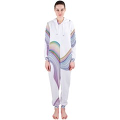 Abstract Ribbon Background Hooded Jumpsuit (Ladies)