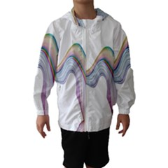 Abstract Ribbon Background Hooded Wind Breaker (Kids)