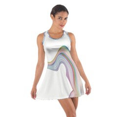 Abstract Ribbon Background Cotton Racerback Dress