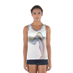 Abstract Ribbon Background Women s Sport Tank Top