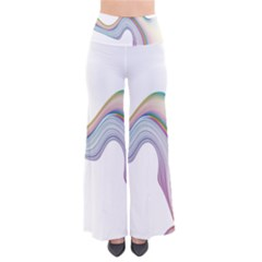 Abstract Ribbon Background Pants