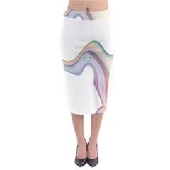 Abstract Ribbon Background Midi Pencil Skirt