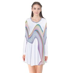 Abstract Ribbon Background Flare Dress
