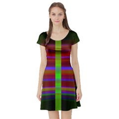 Galileo Galilei Reincarnation Abstract Character Short Sleeve Skater Dress