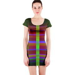 Galileo Galilei Reincarnation Abstract Character Short Sleeve Bodycon Dress