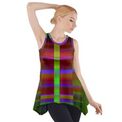 Galileo Galilei Reincarnation Abstract Character Side Drop Tank Tunic