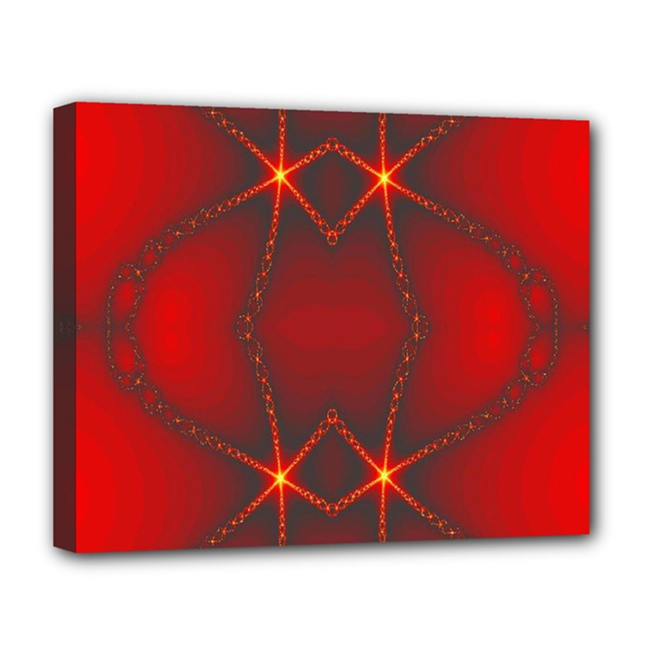 Impressive Red Fractal Deluxe Canvas 20  x 16