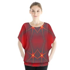 Impressive Red Fractal Blouse