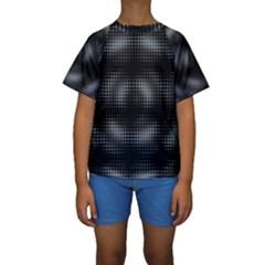 Circular Abstract Blend Wallpaper Design Kids  Short Sleeve Swimwear