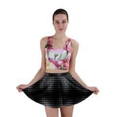 Circular Abstract Blend Wallpaper Design Mini Skirt