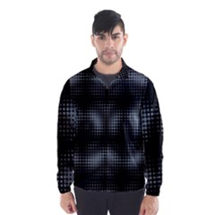 Circular Abstract Blend Wallpaper Design Wind Breaker (men)