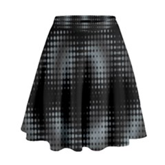 Circular Abstract Blend Wallpaper Design High Waist Skirt