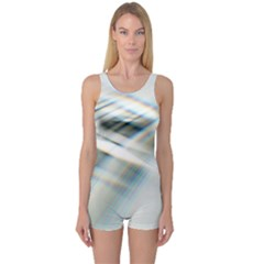 Business Background Abstract One Piece Boyleg Swimsuit