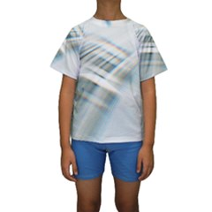 Business Background Abstract Kids  Short Sleeve Swimwear