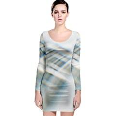 Business Background Abstract Long Sleeve Bodycon Dress