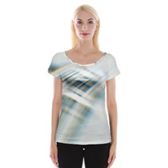 Business Background Abstract Women s Cap Sleeve Top