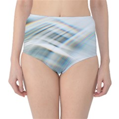 Business Background Abstract High-Waist Bikini Bottoms