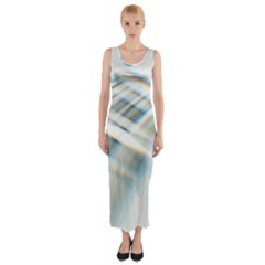 Business Background Abstract Fitted Maxi Dress