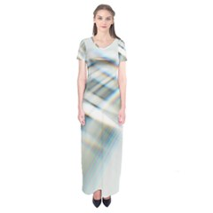 Business Background Abstract Short Sleeve Maxi Dress