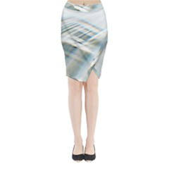 Business Background Abstract Midi Wrap Pencil Skirt