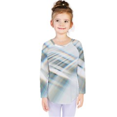Business Background Abstract Kids  Long Sleeve Tee