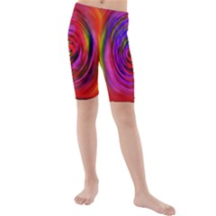Colors Of My Life Kids  Mid Length Swim Shorts
