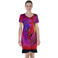 Colors Of My Life Short Sleeve Nightdress