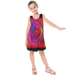 Colors Of My Life Kids  Sleeveless Dress