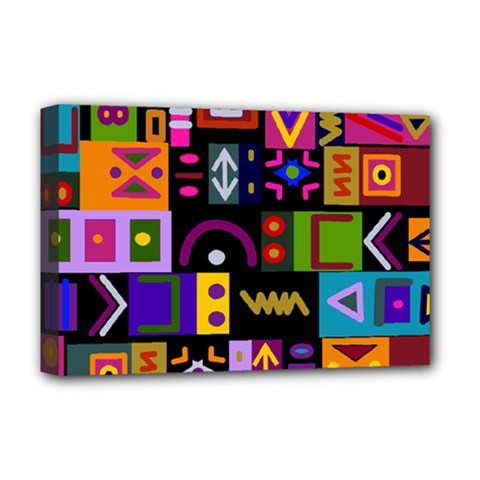 Abstract A Colorful Modern Illustration Deluxe Canvas 18  x 12