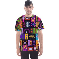 Abstract A Colorful Modern Illustration Men s Sport Mesh Tee