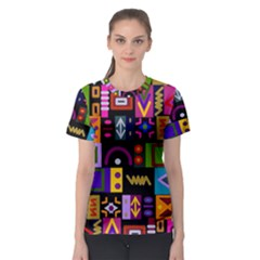 Abstract A Colorful Modern Illustration Women s Sport Mesh Tee