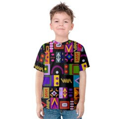 Abstract A Colorful Modern Illustration Kids  Cotton Tee