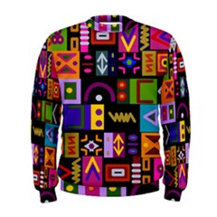 Abstract A Colorful Modern Illustration Men s Sweatshirt