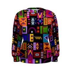 Abstract A Colorful Modern Illustration Women s Sweatshirt
