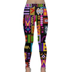 Abstract A Colorful Modern Illustration Classic Yoga Leggings
