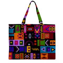 Abstract A Colorful Modern Illustration Zipper Mini Tote Bag
