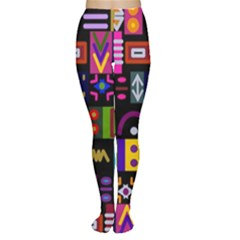 Abstract A Colorful Modern Illustration Women s Tights