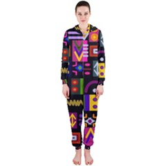 Abstract A Colorful Modern Illustration Hooded Jumpsuit (Ladies)