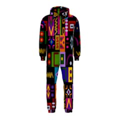 Abstract A Colorful Modern Illustration Hooded Jumpsuit (kids)