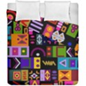 Abstract A Colorful Modern Illustration Duvet Cover Double Side (California King Size) View1