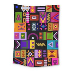 Abstract A Colorful Modern Illustration Medium Tapestry