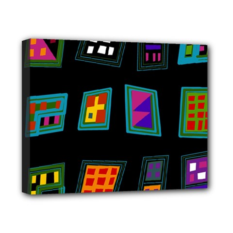 Abstract A Colorful Modern Illustration Canvas 10  X 8