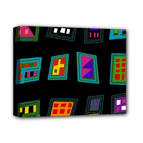 Abstract A Colorful Modern Illustration Deluxe Canvas 14  x 11