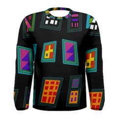 Abstract A Colorful Modern Illustration Men s Long Sleeve Tee