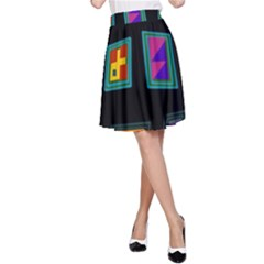 Abstract A Colorful Modern Illustration A-Line Skirt