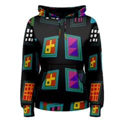 Abstract A Colorful Modern Illustration Women s Pullover Hoodie