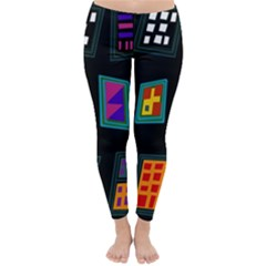 Abstract A Colorful Modern Illustration Classic Winter Leggings