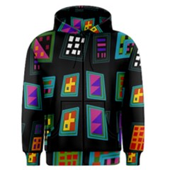 Abstract A Colorful Modern Illustration Men s Zipper Hoodie
