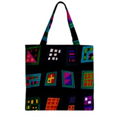 Abstract A Colorful Modern Illustration Zipper Grocery Tote Bag